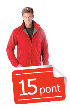 Gyűjts össze 15 pontot és tiéd a dzseki
