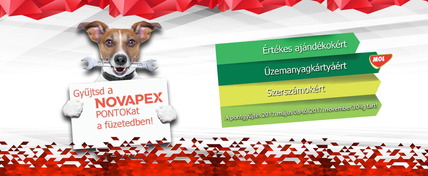 Gyűjtsd a Novapex pontokat a füzetedben!